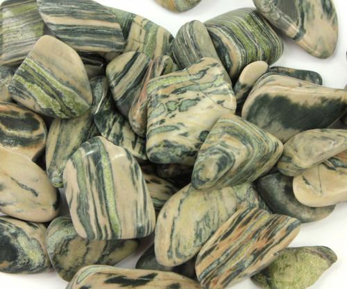 Moody Green Jasper Tumbled Stone Krystal Love