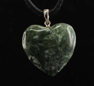 Seraphinite Heart Pendant 5