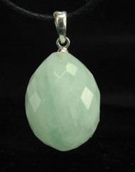 Aquamarine Faceted Pendant