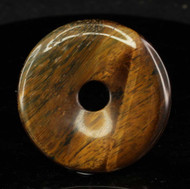 Tiger Eye Donut Pendant 40mm 1