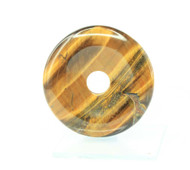 Tiger Eye Donut Pendant 40mm 5