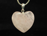 Rose Quartz Heart Pendant 2