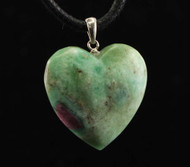 Ruby Fuschite Heart Pendant 2