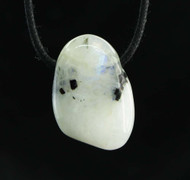 Rainbow Moonstone Tumbled Pendant 2