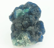 Rare Blue Fluorite over Citrine