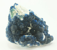 Blue Fluorite over Citrine