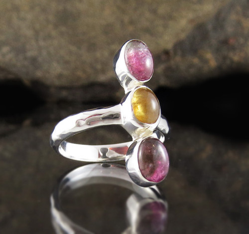 Multi Colour Tourmaline Ring