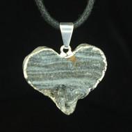 Agate Drusy Heart Pendant 1