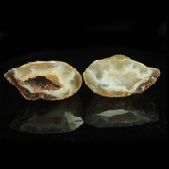 Agate Cluster Geode Pair 6