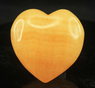 Orange Calcite Heart 4