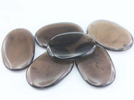 Smoky Quartz Flat Palm Stone