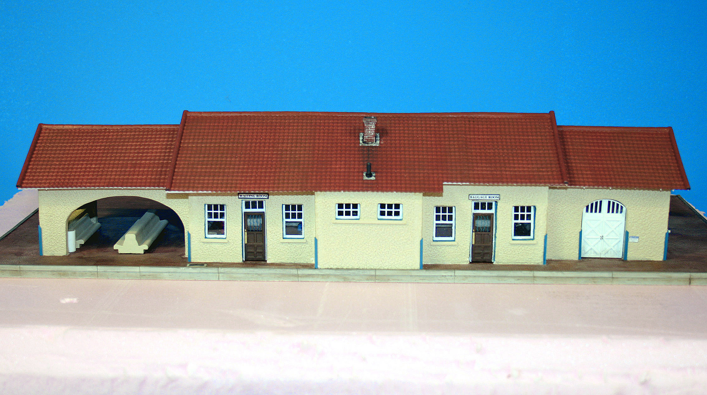 Lamy Depot NM HO scale model by Peter Ypungblood
