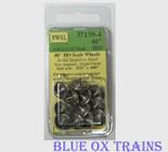 "NWSL HO Athearn 3/32"" Half-Axle 40"" Wheelsets 37139-4"