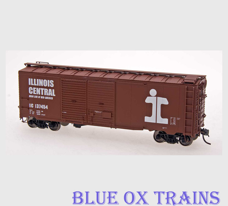 Red Caboose HO RR-38575-2 Illinois Central 1937 AAR Double Door Boxcar IC 137278