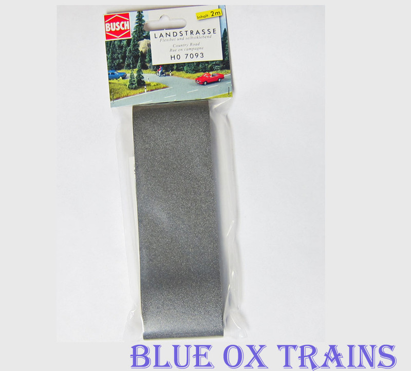 Busch 7093 HO Scale Flexible Paved Country Asphalt Road Adhesive 2m