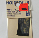 Detail Associates HO 7101 Tools - Etched Brass Mechanics Shop Tools