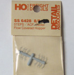 Detail Associates 6428 Step ACF Center Flow Covered Hopper pkg(8) HO Scale
