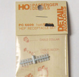 Detail Associates 6609 Head-End Power (HEP) Receptacle Set (1 set) 10) HO Scale