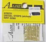 A-Line 29231 HO Scale Etched Brass Diesel Steps RPP SD60
