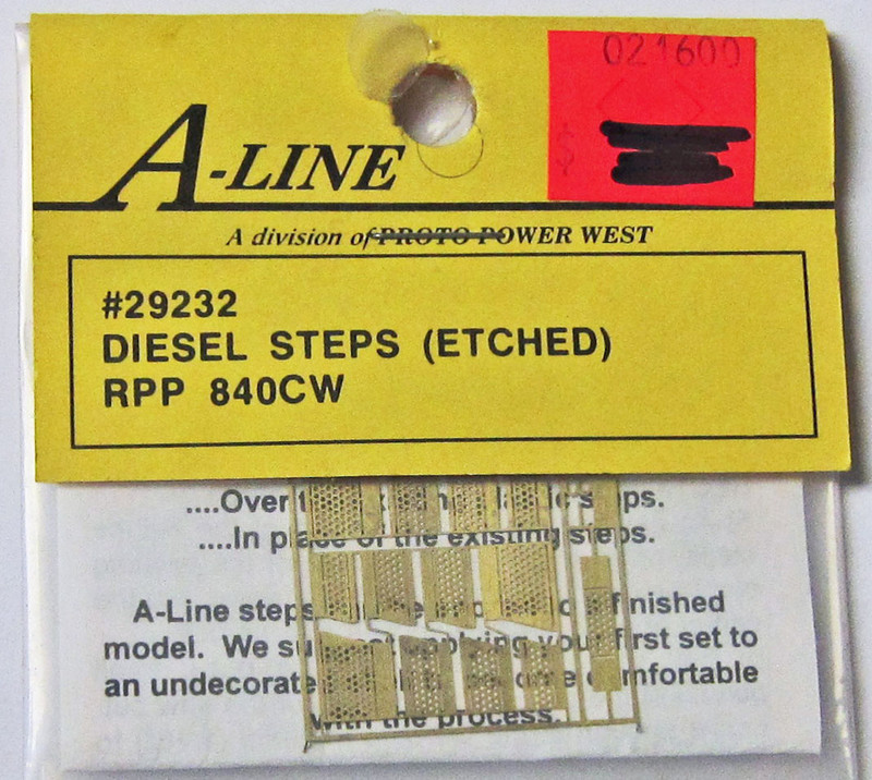A-Line 29232 HO Scale Etched Brass Diesel Steps RPP 840CW