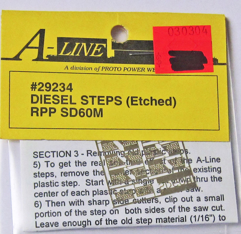 A-Line 29234 HO Scale Etched Brass Diesel Steps RPP SD60M