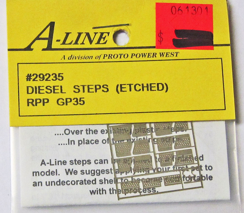 A-Line 29235 HO Scale Etched Brass Diesel Steps RPP GP35