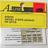 A-Line 29239 HO Scale Etched Brass Diesel Steps Front Range GP7 GP9