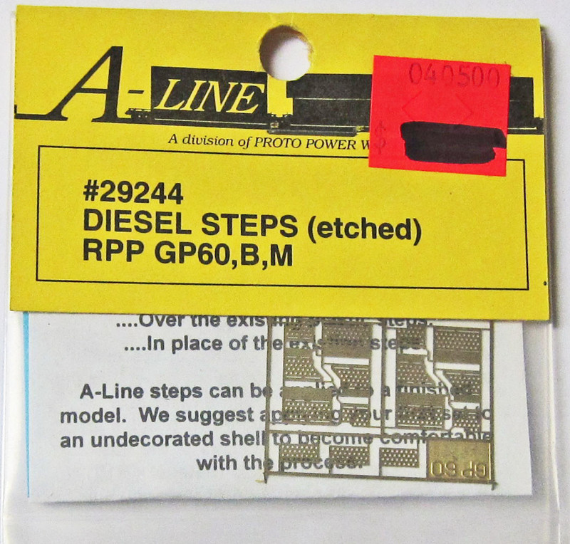 A-Line 29244 HO Scale Etched Brass Diesel Steps Rail Power Products GP60,B,M