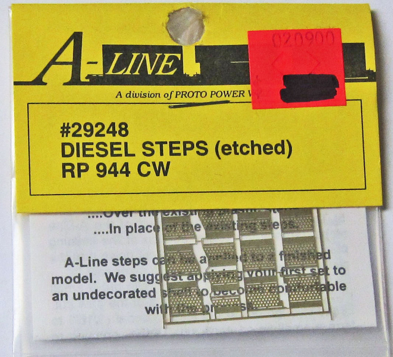 A-Line 29248 HO Scale Etched Brass Diesel Steps Rail Power Products 944 CW