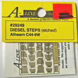 A-Line 29249 HO Scale Etched Brass Diesel Steps Athearn C44-9W