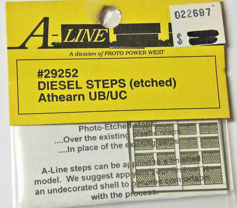 A-Line 29252 HO Scale Etched Brass Diesel Steps Athearn UB/UC