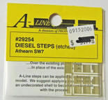 A-Line 29254 HO Scale Etched Brass Diesel Steps Athearn SW7