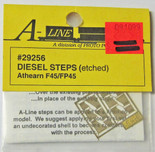 A-Line 29256 HO Scale Etched Brass Diesel Steps Athearn F45/FP45