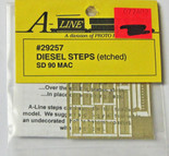 A-Line 29257 HO Scale Etched Brass Diesel Steps Rail Power Products SD90MAC