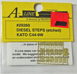 A-Line 29260 HO Scale Etched Brass Diesel Steps Kato C44-9W
