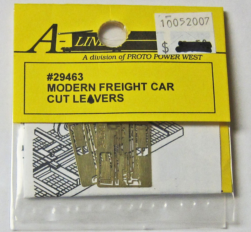 A-Line 29463 HO Scale Etched Brass Modern Freight Car Cut Levers