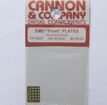 "Cannon 2027 HO Scale Detail Part Photo-Etched Brass EMD Cast Front ""F"" Plates"