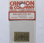 Cannon 2026 HO Scale Detail Part Photo-Etched Brass EMD Side Step Set Proto 2000 GP30