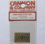 Cannon 2026 HO Scale Detail Part Photo-Etched Brass EMD Side Step Set Proto 2000 GP30