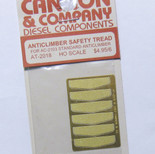 Cannon 2018 HO Scale Detail Part Photo-Etched Brass Anticlimber Safety Tread pkg(6) Fits #2103 Standard