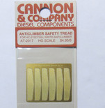 Cannon 2017 HO Scale Detail Part Photo-Etched Brass Safety Tread pkg(6)Fits #2102 Full Width Anticlimber