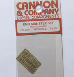 Cannon 2014 HO Scale Detail Part Photo-Etched Brass EMD Side Step Set Proto 2000 SD50