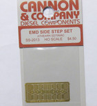 Cannon 2013 HO Scale Detail Part Photo-Etched Brass EMD Side Step Set Athearn SD70MAC