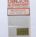 Cannon 2007 HO Scale Detail Part Photo-Etched Brass EMD Side Step Set Athearn SD70 w/3 Steps