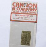 Cannon 2004 HO Scale Detail Part Photo-Etched Brass EMD Side Step Set Kato GP35