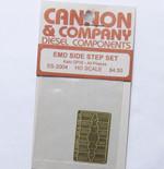 Cannon 2004 HO Scale Detail Part Photo-Etched Brass EMD Side Step Set Kato GP35