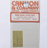 Cannon 2003 HO Scale Detail Part Photo-Etched Brass EMD Side Step Set Kato SD40, SD45