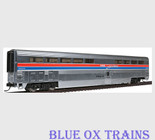 Walthers 16181 HO Scale Amtrak Superliner Diner Phase II Metal Plated
