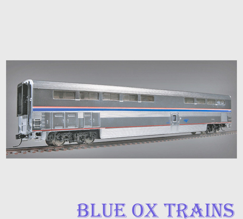 Walthers 16184 HO Scale Amtrak Superliner Diner Phase 4B Metal Plated