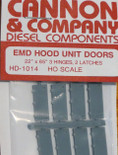 "Cannon 1014 HO Scale Detail Part EMD 22 x 65"" Latched Hood Doors pkg(8)"